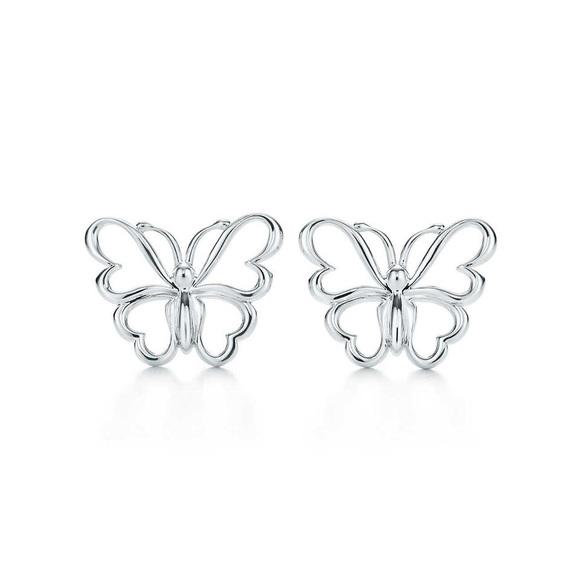 f9b400fdd44e8 Authentic Tiffany & Co. Butterfly Earrings